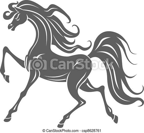 Wild horse foal - csp8628761