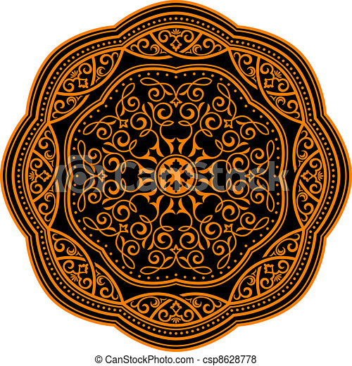 Medieval ornament - csp8628778