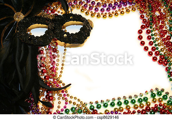 Stock Image of Mardi Gras Background or Stationary - Mardi Gras Mask ...