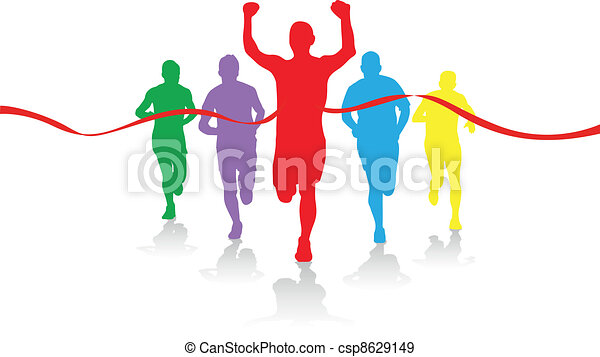 group of runners - csp8629149