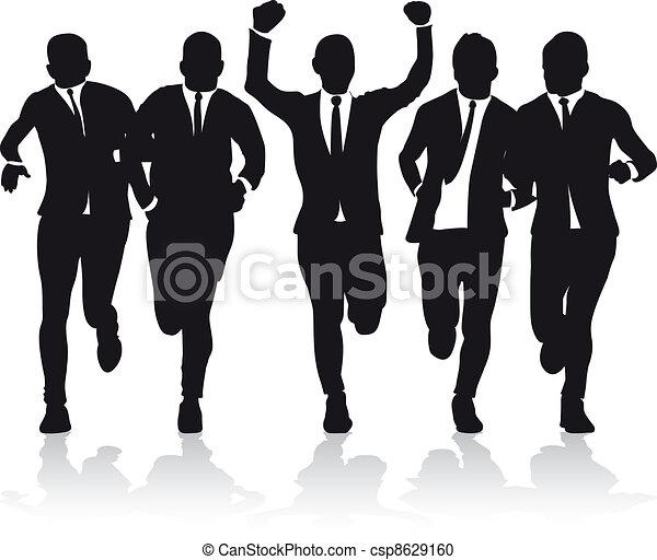 business men running - csp8629160