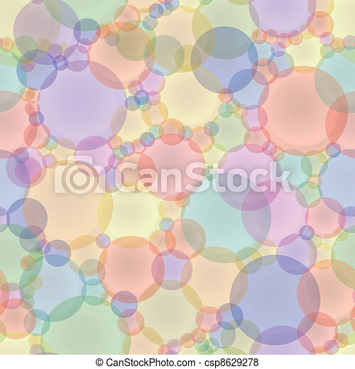 Abstract vector seamless texture in pastel tones - csp8629278