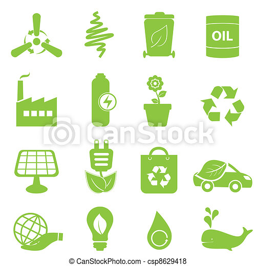 Eco icon set - csp8629418