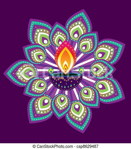 Indian Pattern - csp8629487