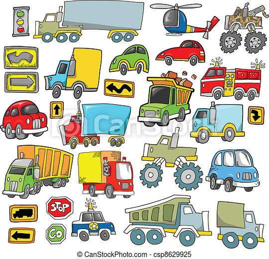 Transportation Vehicle Vector set - csp8629925