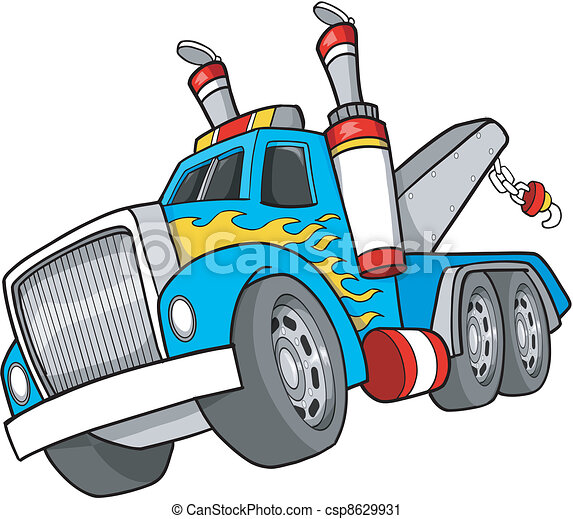 Tow Truck Vector Illustration  - csp8629931