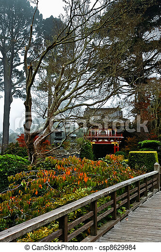The Japanese Tea Garden in the Golden Gate Park, San Francisco - csp8629984