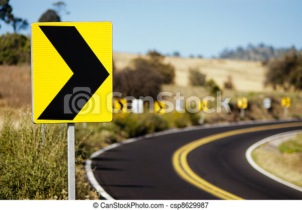 Turn Right Traffic Signal  - csp8629987