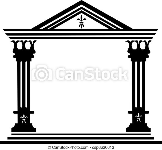 Columns ancient greek - csp8630013