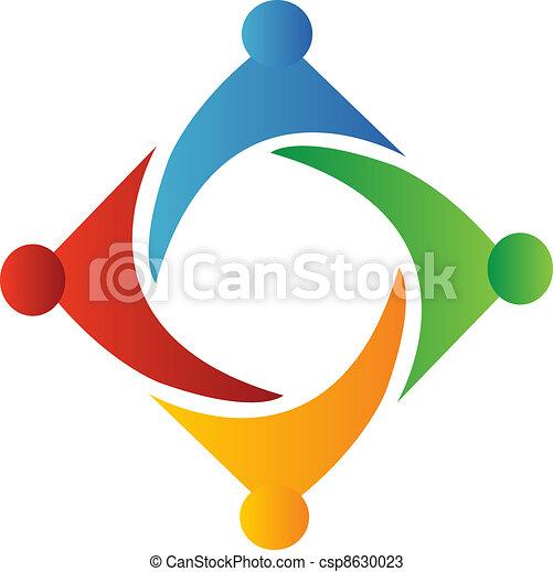 Teamwork square form logo - csp8630023