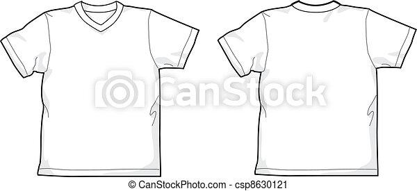 T-shirt V-neck - csp8630121