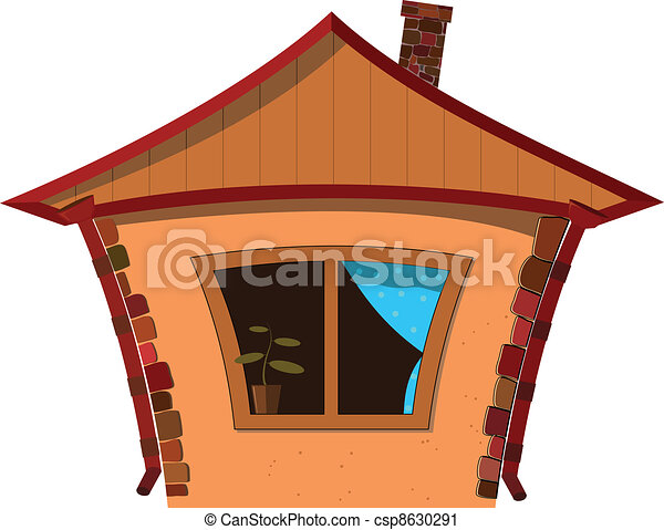 Vector illustration of a small house - csp8630291