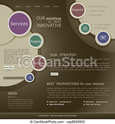 website template for the Internet - csp8630953