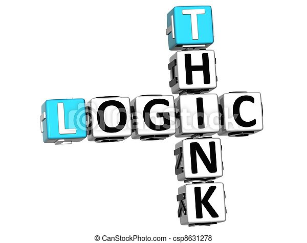 3D Think Logic Crossword - csp8631278