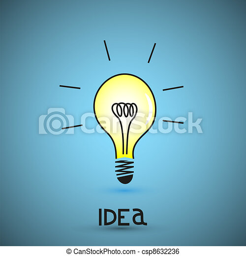 Vector bulb light idea - csp8632236