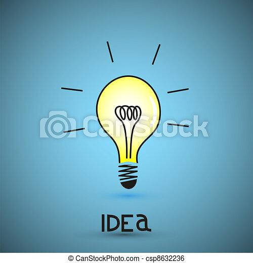 Vector bulb light idea - csp8632236