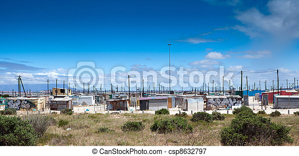 informal settlement in cape town - csp8632797