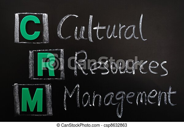 Acronym of CRM - Cultural Resources Management - csp8632863