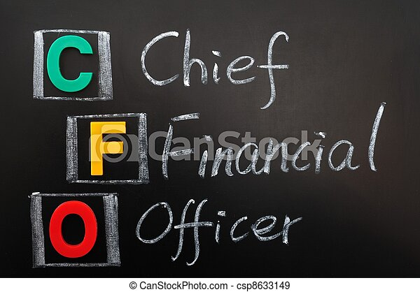 Stock Photographs of Acronym of CFO - Chief Financial Officer written ...