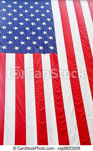 amerikanische, decke, Fahne, hängender - csp8633309
