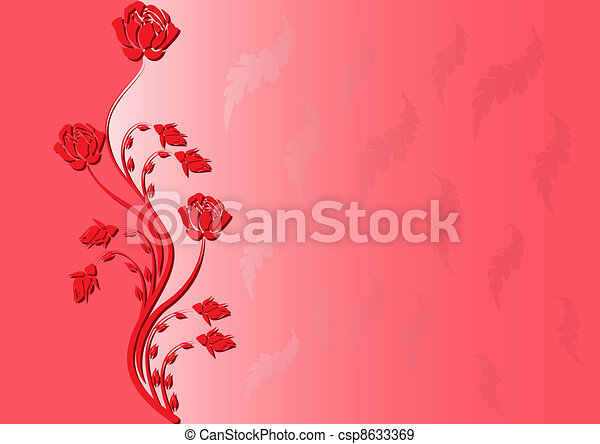 background with rose - csp8633369