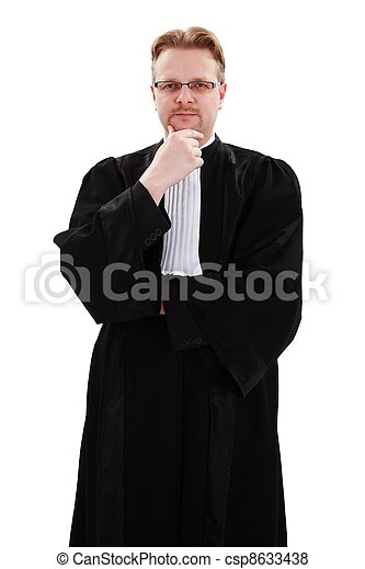Serious young lawyer - csp8633438