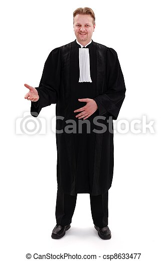 Happy confident lawyer - csp8633477