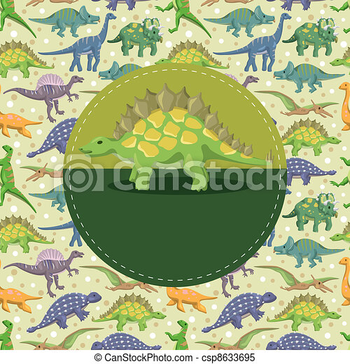 dinosaur card - csp8633695