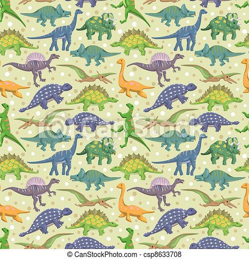 seamless dinosaur pattern - csp8633708