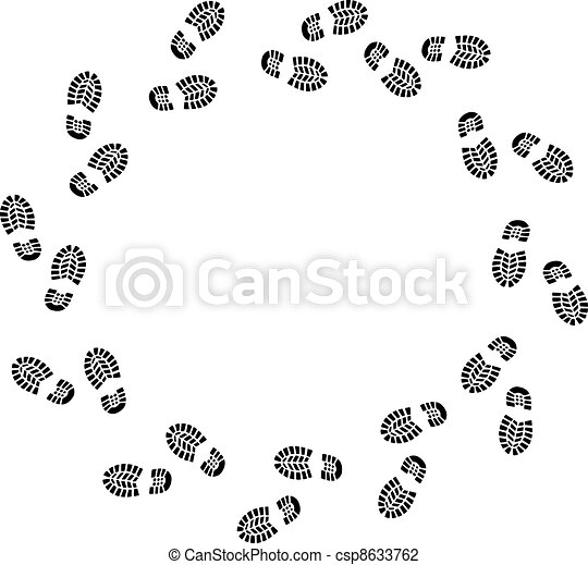 Trail Running Shoe Print