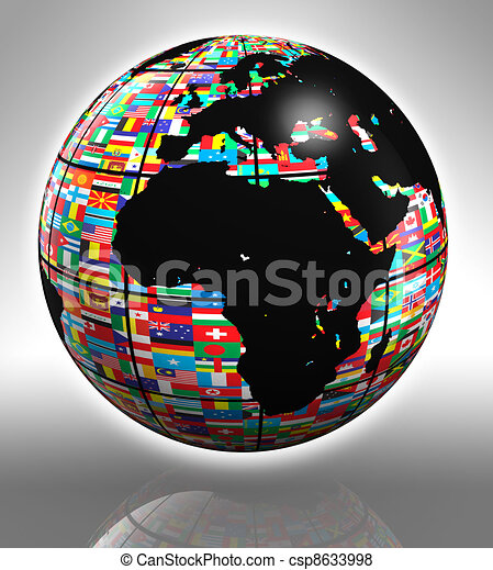 earth globe africa and europe - csp8633998