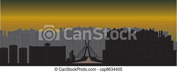 sao paulo skyline - csp8634405