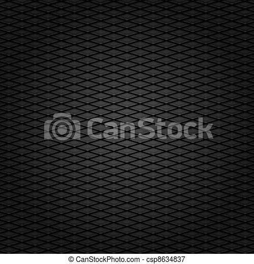 Corduroy background, dark gray grid fabric texture - csp8634837