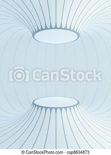 futuristic interior space - csp8634873