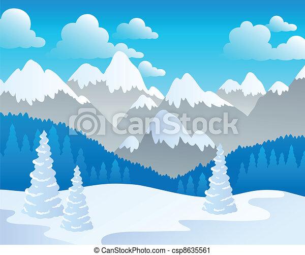 Mountain theme landscape 4 - csp8635561