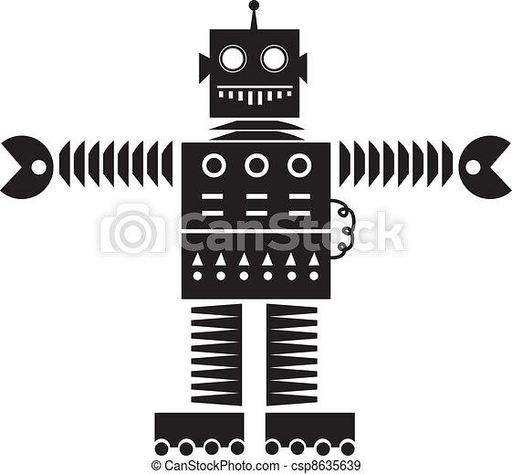 Robot Silhouette  - csp8635639