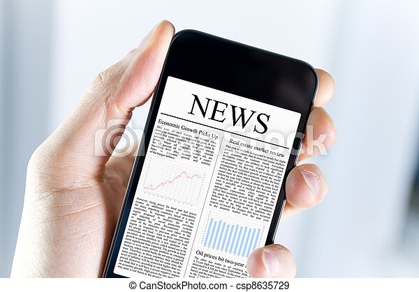 News On Mobile Phone - csp8635729