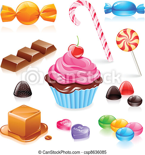 Mixed candy vector - csp8636085