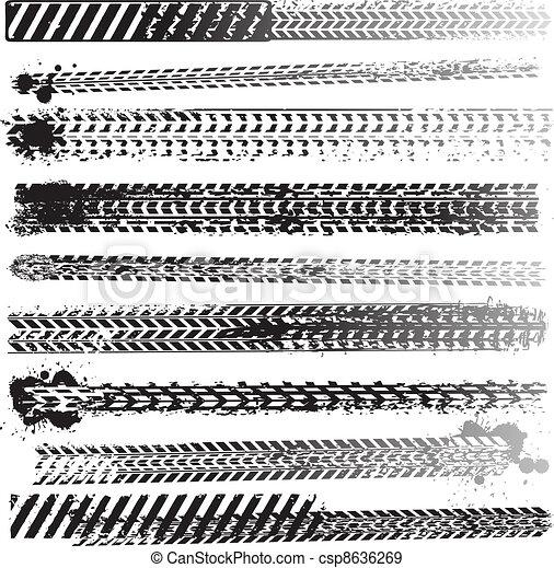 Set of tire tracks - csp8636269
