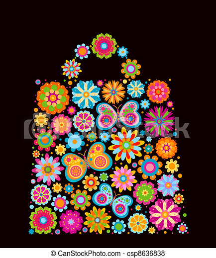 flowers bag shape - csp8636838