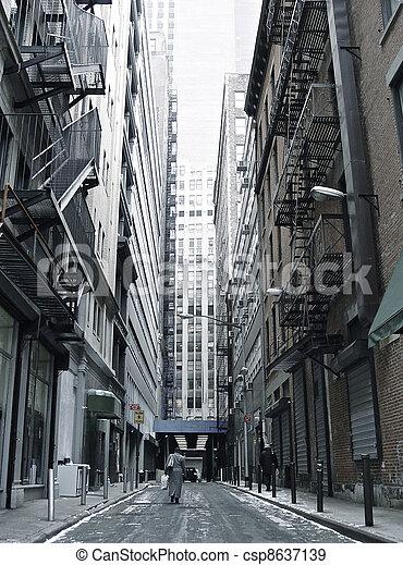 Historic City Street - csp8637139