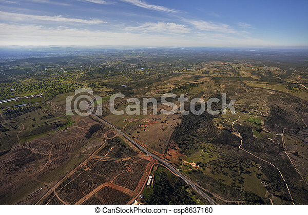 aerial view of Andalusia countryside - csp8637160