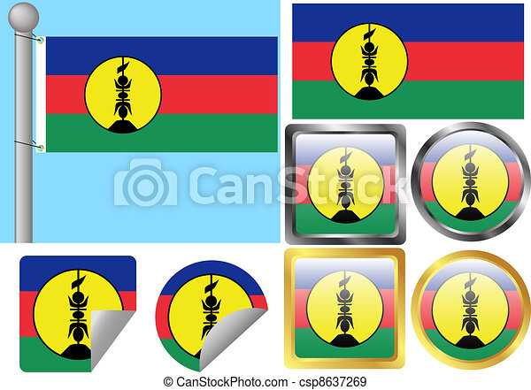 Flag Set New Caledonia - csp8637269