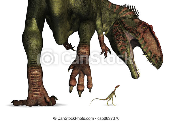 Dinosaur Size Comparison - Huge to Tiny - csp8637370