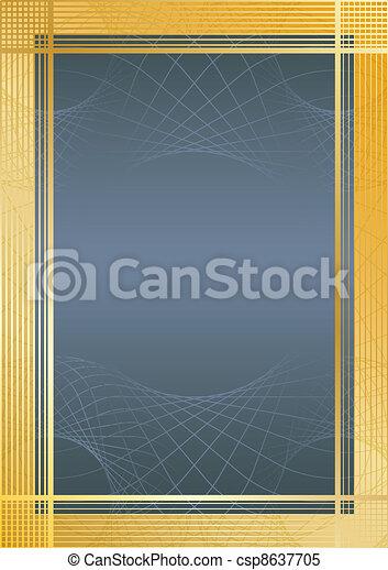 Certifikate blue/gold - csp8637705