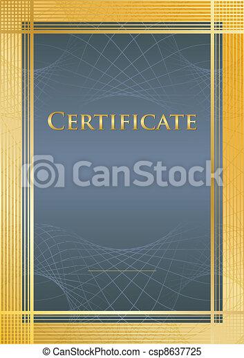 Certificate blue/gold - csp8637725