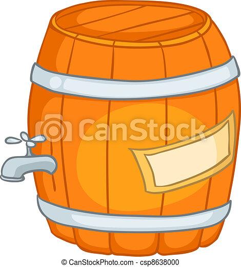 Cartoons Barrel - csp8638000