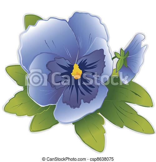 vecteur clipart de bleu pens e fleurs ciel sky bleu. Black Bedroom Furniture Sets. Home Design Ideas