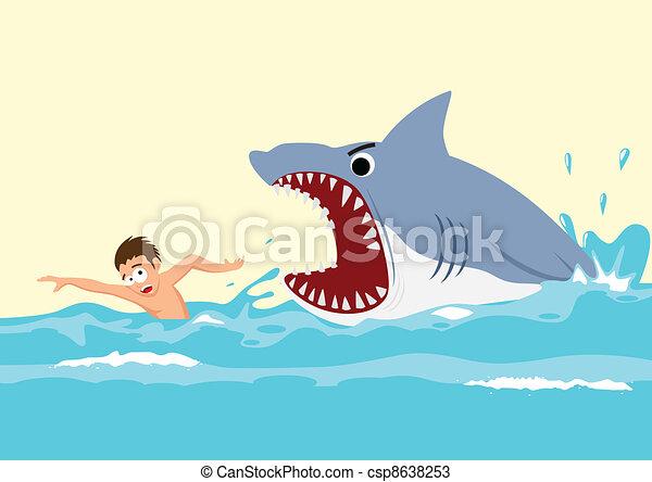 Shark Attack - csp8638253