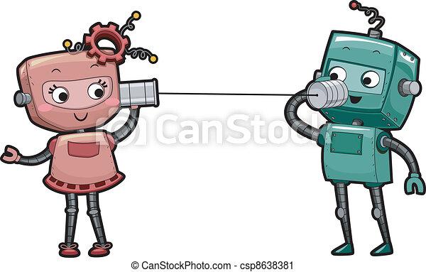 Robot Can Phone - csp8638381